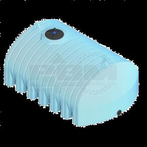 1600 Gallon Flat Bottom Tank - Blue