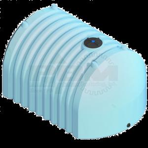 3180 Gallon Flat Bottom Tank - Blue