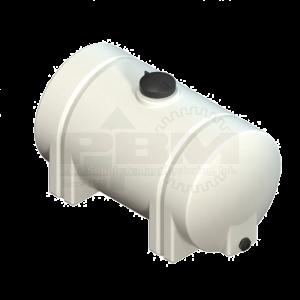 65 Gallon Horizontal Leg Tank - White