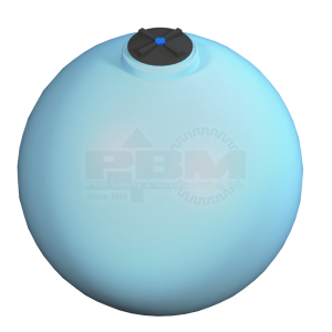 1000 Gallon Heavy Duty Sphere Tank Without Fitting - Blue