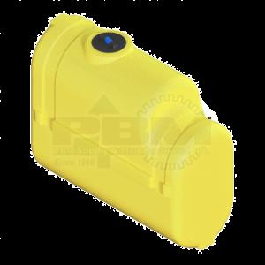 250 Gallon Tractor Mounted Tank - Yellow