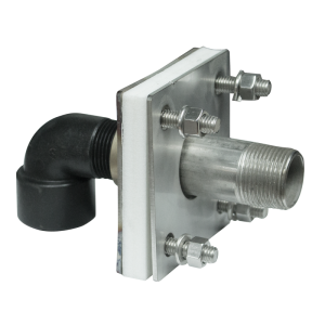"""1"""" Stainless Steel Bolted Tank Adapter With Coupler And Siphon Tube"""
