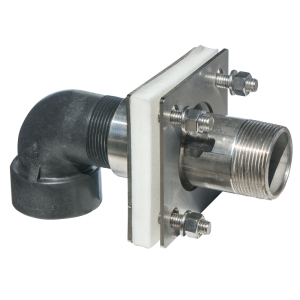 1 1/2″ Stainless Steel Bolted Tank Adapter With Coupler And Siphon Tube