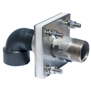 """1 1/4"""" Stainless Steel Bolted Tank Adapter With Coupler And Siphon Tube"""